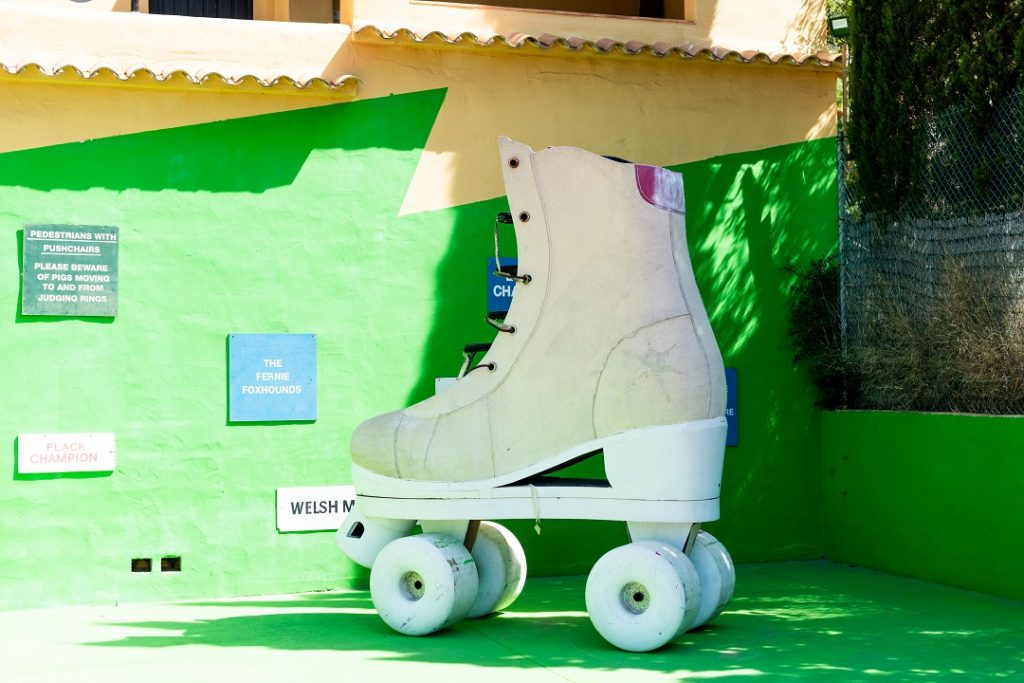 Giant Roller Skate at Pikes Ibiza